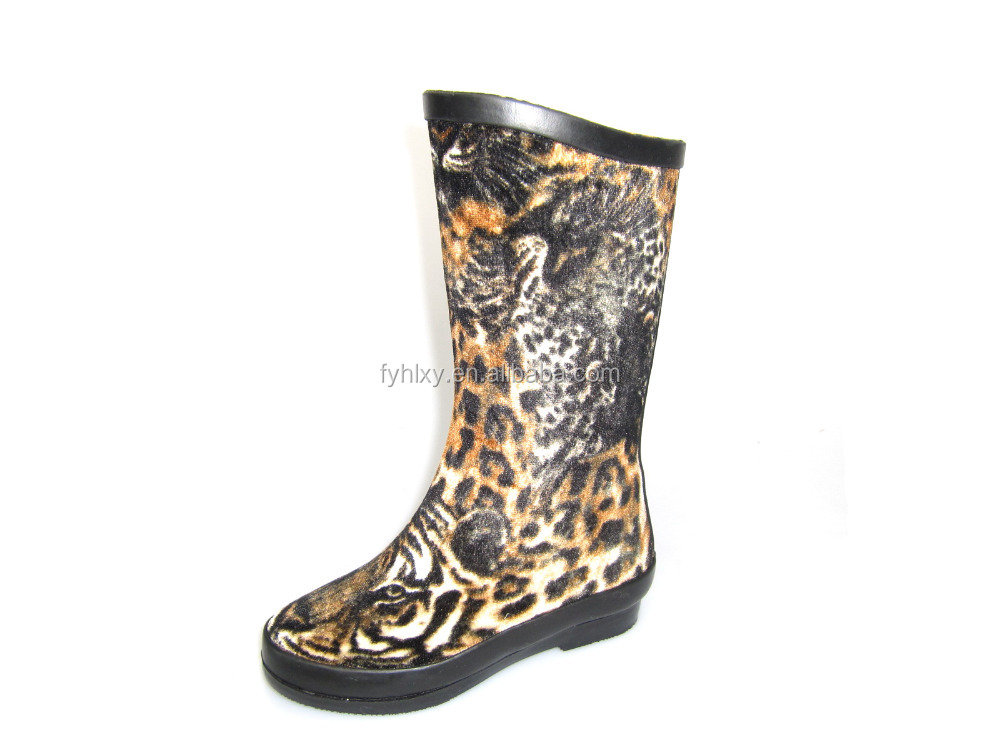 Rubber Boots With Tiger Print, Rubber Boots With Tiger Print ...