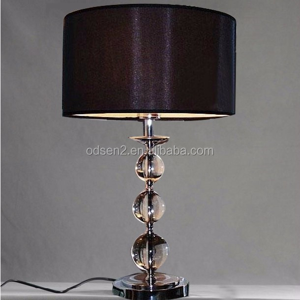 fancy crystal glass ball center parts crystal chandelier led table lamp
