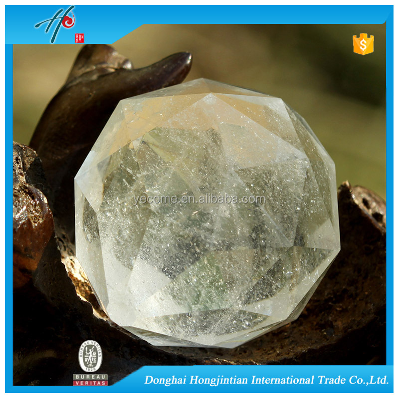 Faceted Full Shape Natural Crystal Parts For Chandelier
