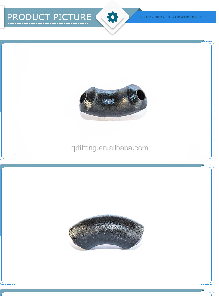 ASME B16.9 ISO3419 heavy thick ASTM A234 GR WP91 90 degrees alloy steel forged elbow pipe fitting
