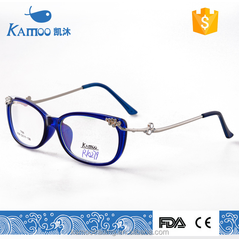 Beautiful TR90 glasses frame and unique glasses and metal arms glasses