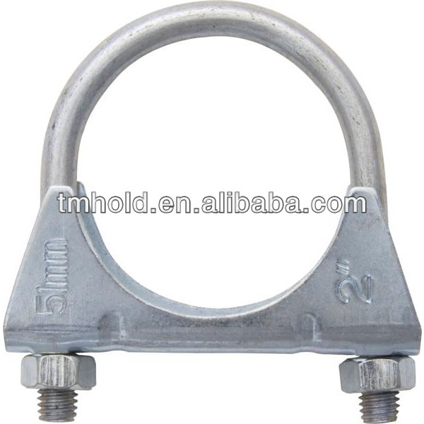 10 Pk 2 Exhaust U Hose Clamps Clamping Clips Nuts Bolt Zinc Plated 1 5 3 4