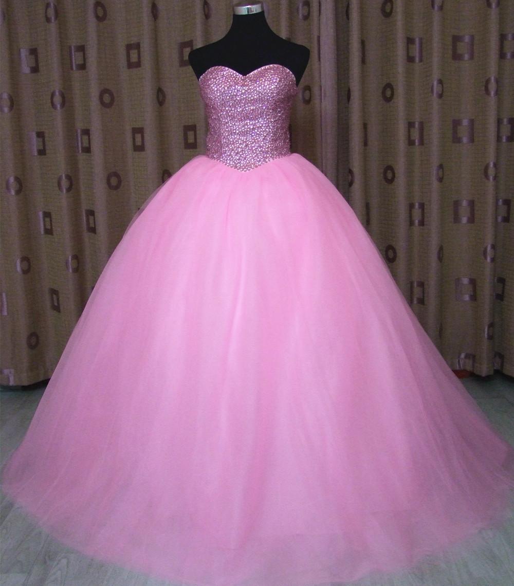 Fa99 New Beaded Sexy Pink Wedding Dress With Real Photo Custom Made Ball Gown Vestido De Noiva Buy Hot Pink Gaun Pernikahan Gaun Pink Murah Gaun Pengantin Cahaya Merah Muda Pernikahan Gaun Product
