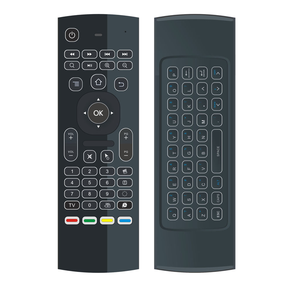 Fabriek van Backlit MX3 Air fly mouse 2.4G backlight draadloze toetsenbord MX3 voor android tv box