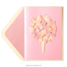 High quality korean greeting cards custom birthday card with best price