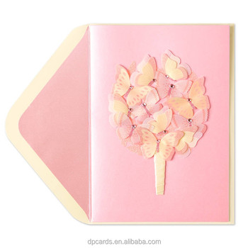 High Quality Korean Greeting Cards Custom Birthday Card With Best