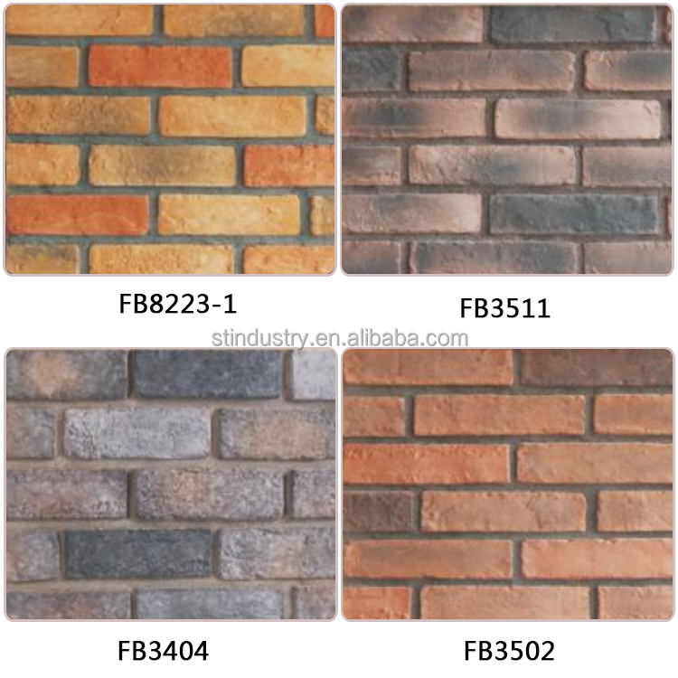 Amazing High Temperature Fireproof Artificial Stone Imitation Brick Tiles