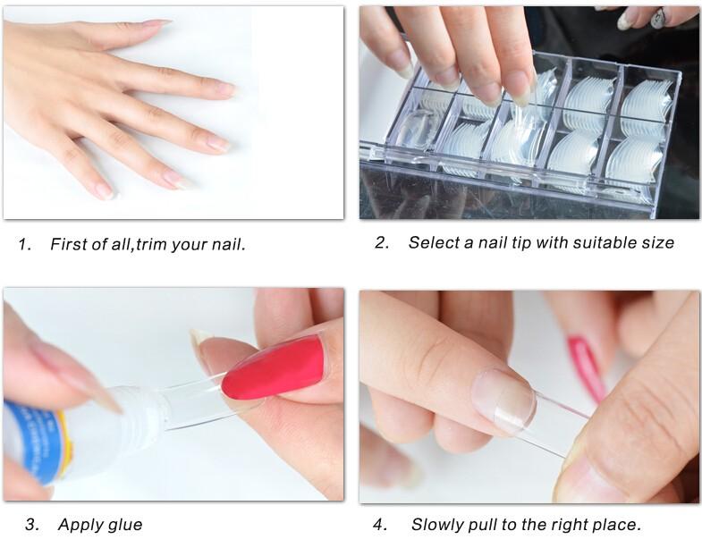 Fengshangmei Nail Supplier Wholesale 500 Tips Salon False Nail Tips ...