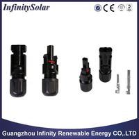 MC4 M/F Safety Seal Ring Waterproof Solar Cable Connector Copper Wire Connector IP67 Spring Cage Solar PV Plug Socket