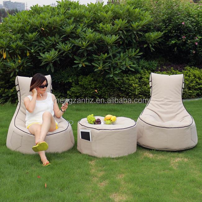 Outdoor Bean Bag Garden Lounge Chair Fabric Sofa Set Product On Alibaba