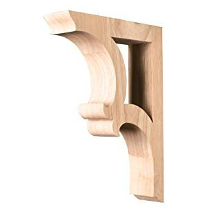 One Pair of Solid Wood Bar Brackets. 1-7/8 x 7-1/2 x 10-1/2. by Wood Corbels