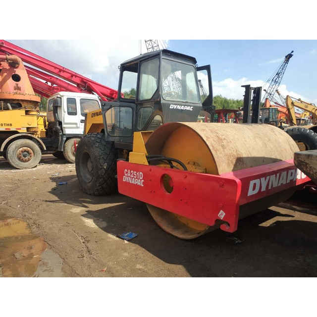Road Roller 10 Ton Used Dynapac CA25D of Single Drum Dynapac CA25 Used Road Roller