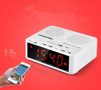 2017 newest Portable big display bedside electronic clock Wireless Bluetooth speaker with music player/alarm/clock/radio
