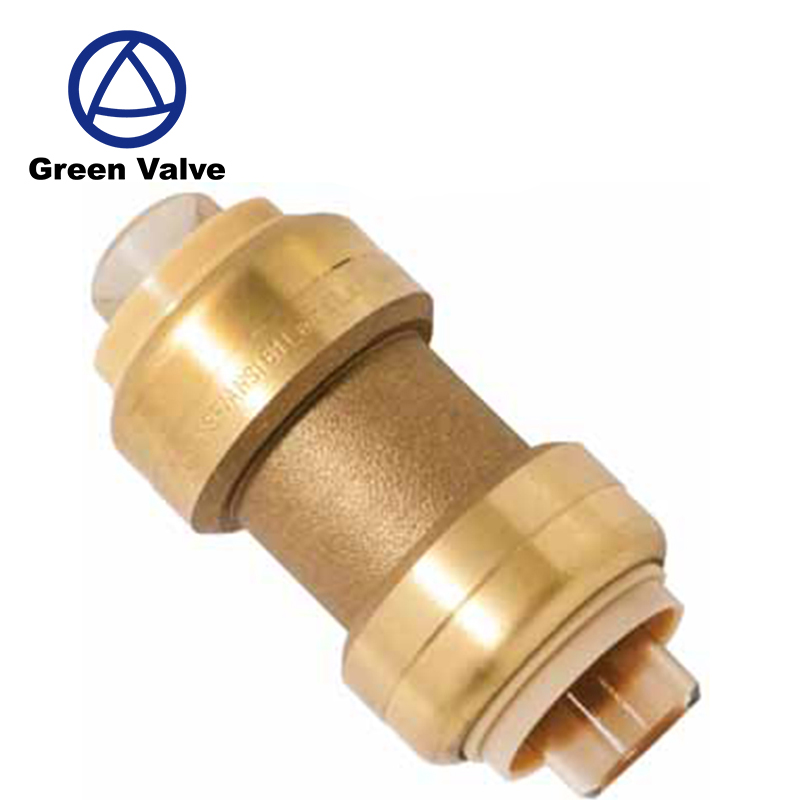 "Green Guten-Top Lead Free Brass Push fit fittings Sharkbit quick coupling 1/2"" 3/4"" 1"" for PEX Copper brass push fittings"
