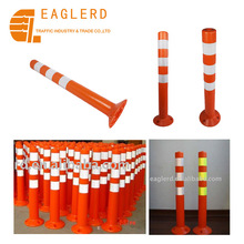 Traffic plastic reflective road divider