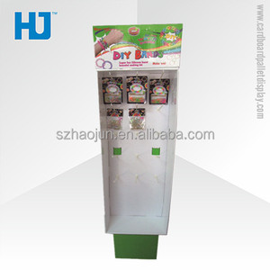 Pegboard Floor Display Stand for Earring, Cardboard Hook Display for Bracelet with Strong Cardboard Material