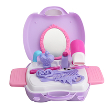 Mode enfants semblant jouer jouet <span class=keywords><strong>miroir</strong></span> commode valise maquillage set jouet