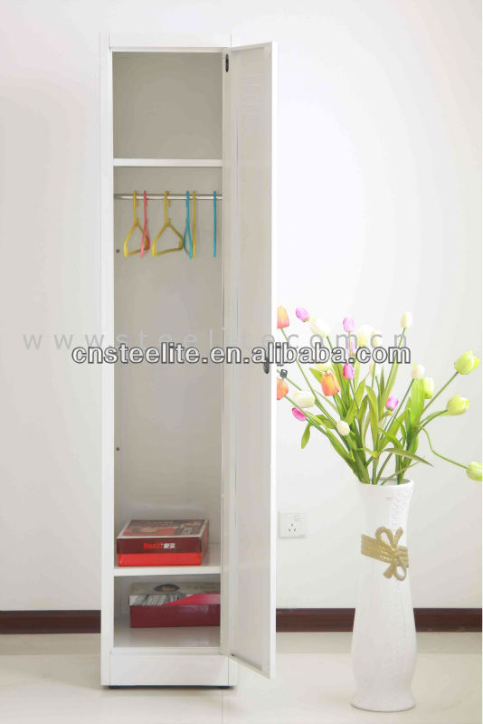 Exceptional Slim Freestanding 1 Door Steel Almirah Cabinet Designs For Small  Space/corner White Wardrobe Closet With Hanging Rod U0026 2 Shelves   Buy Slim  Freestanding 1 ...