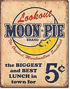 Moon Pie Best Lunch Distressed Retro Vintage Tin Sign; New; Free Shipping