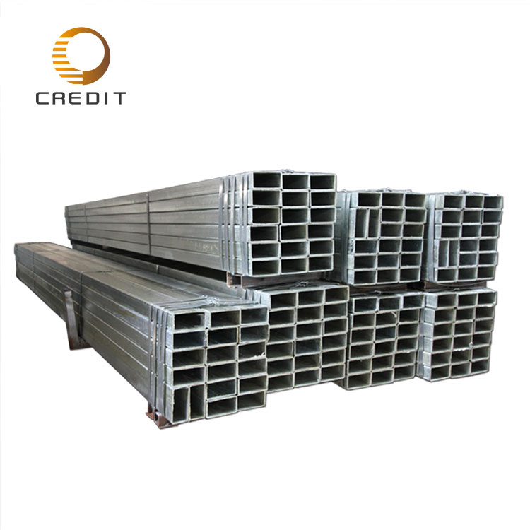 ERW Mild Steel / Hot Rolled Black Welded Square Structural Hollow Section Shape Steel Pipe/Tube