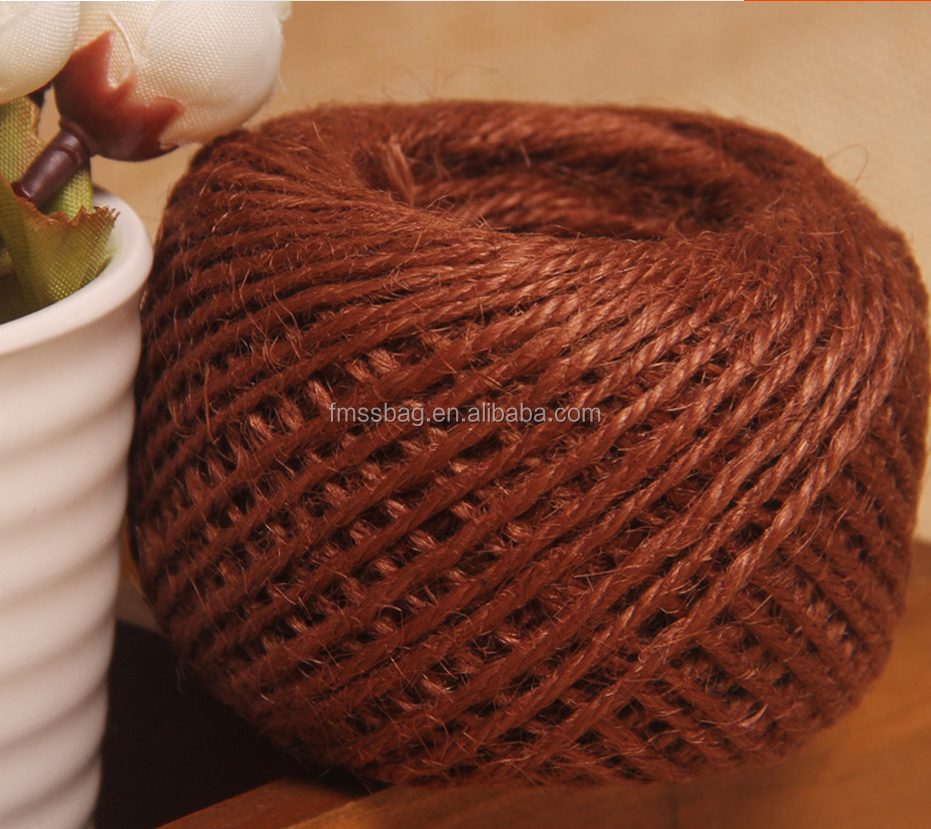 Chinese factory natural color Twisted jute yarn/jute twine/jute rope