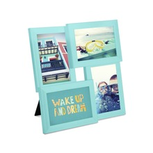 "New design 4 Opening PS Desktop Collage Photo Frame, 4""x6"", Surf Blue"