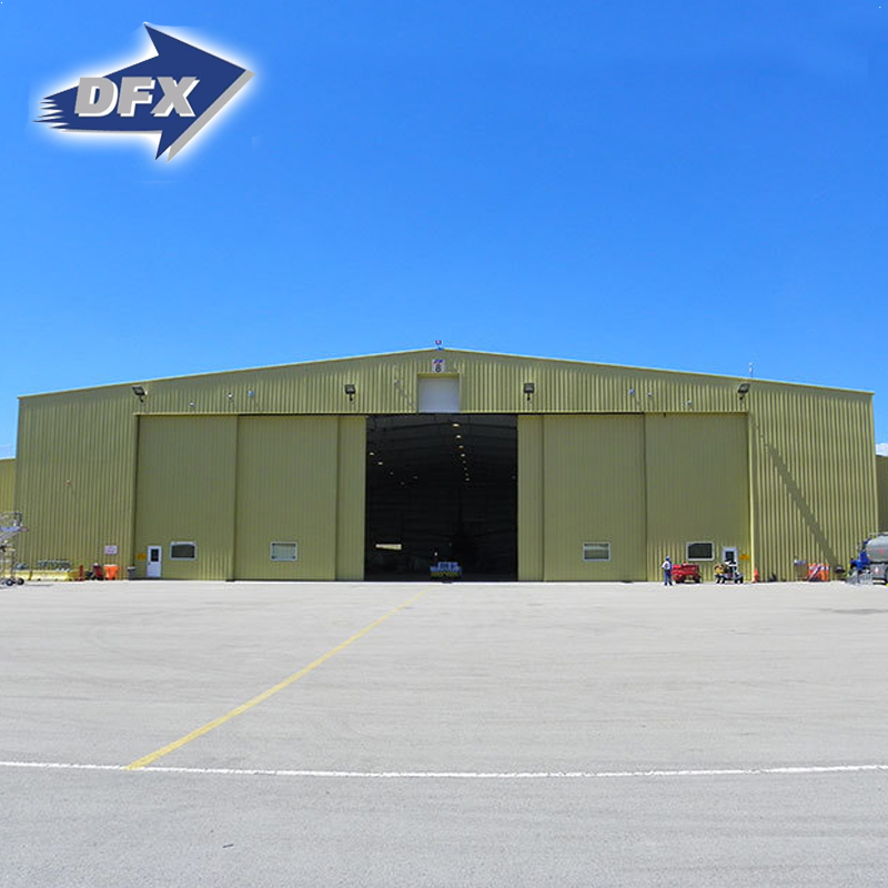 Easy Assembly Industrial Steel Structure Prefabricated Aircraft Hangar