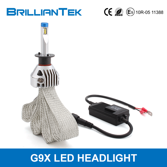 Wholesale Fanless G9X H1 H3 Car LED Lighting Head Lamp Conversion Kits With CE ROHS EMARK