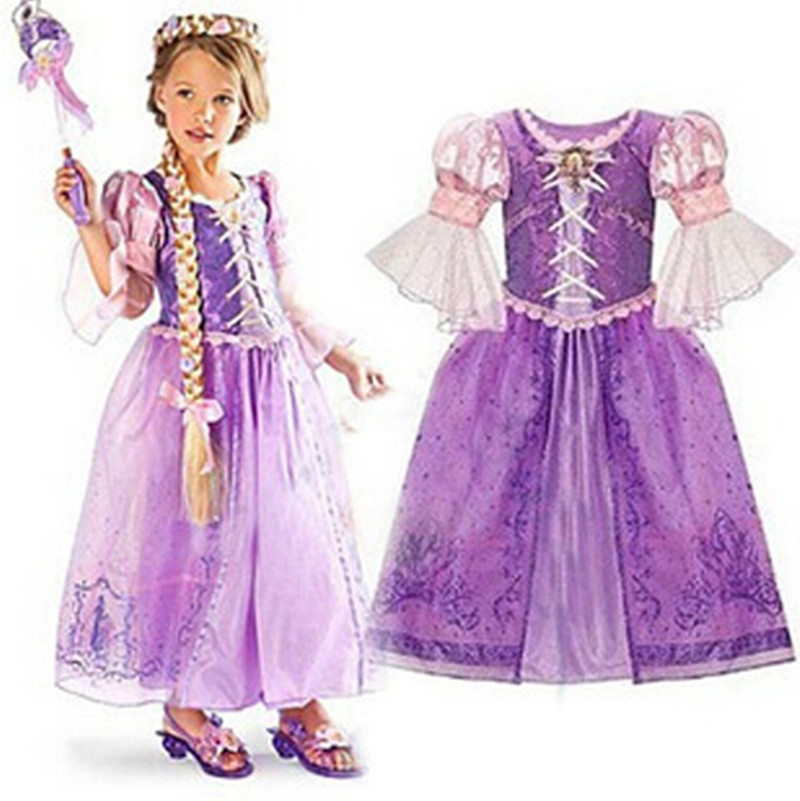 2015 Summer Fashion Baby Girls Dress Children Elsa & Anna Cinderella Princess Dresses for Party and Weeding Kids Girls Clothes