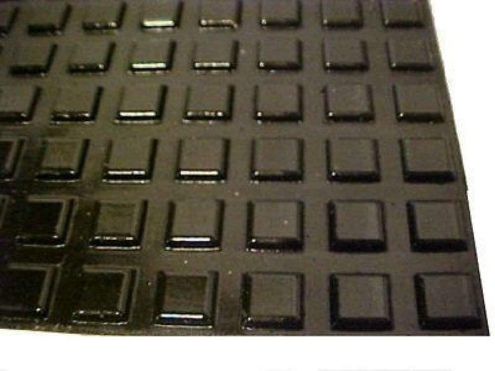 "Lot of 100 Black Self Adhesive Square Rubber Feet 12.7mm (1/2"") 3mm (1/8"")"