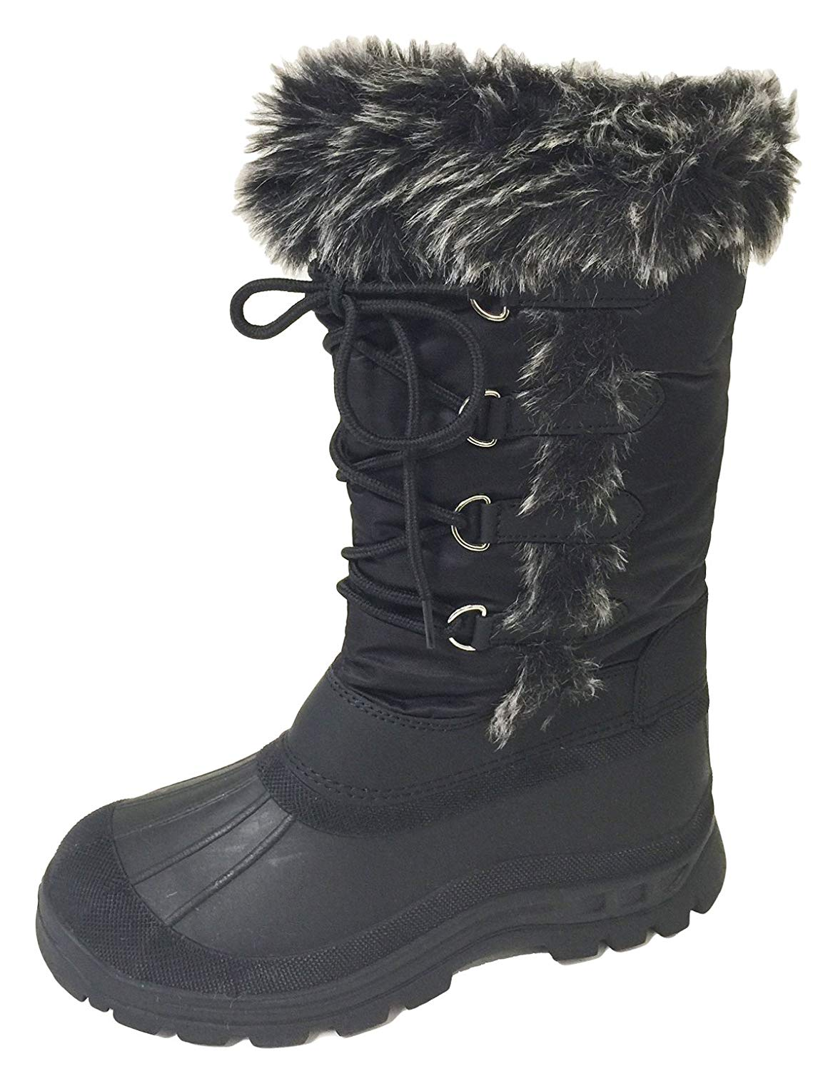 ef2b18d68545f Get Quotations · G4U-ICFZ Women s Winter Boots Snow Cold Weather Fur Lace  up Insulated Zipper Water Resistant