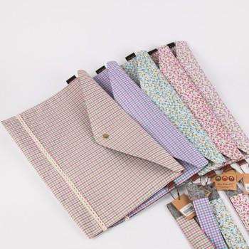 decorative cotton fabric lace document expanding file folder
