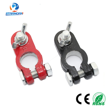 Red Positive Black Negative Battery Terminal Clamp Gender Car