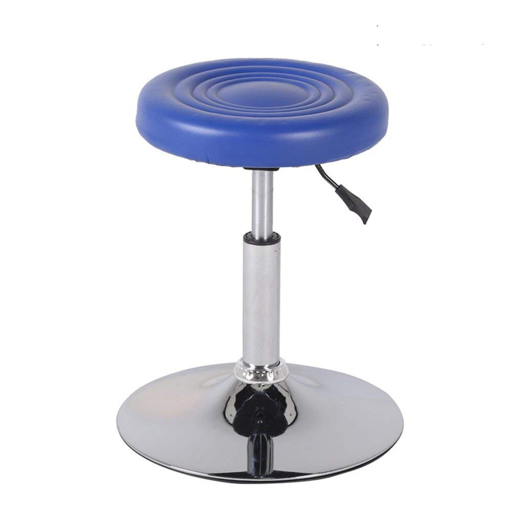 Wei Hong Home Office Chairs Lift Chairs Bar stools Round stools Beauty stools (Color : Blue, Size : PU leathe)