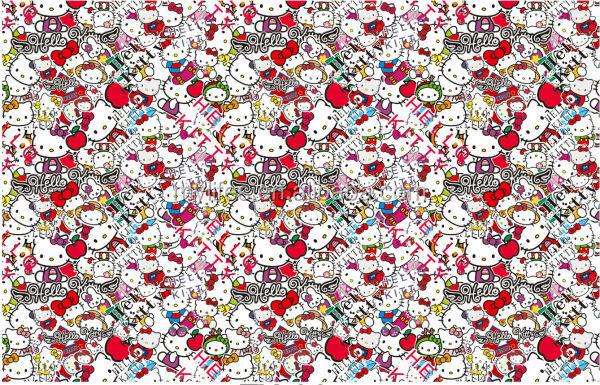 New Product!1.52*30m Hello Kitty Sticker Bomb Style Car Vinyl Film Part 56