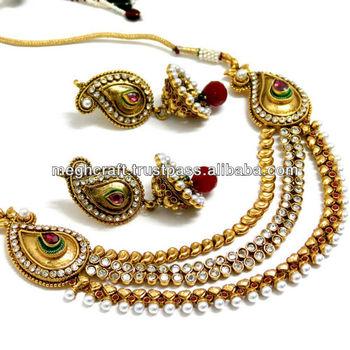 2015 Latest Design Imitation Jewelry Indian Ethnic Jewelry One
