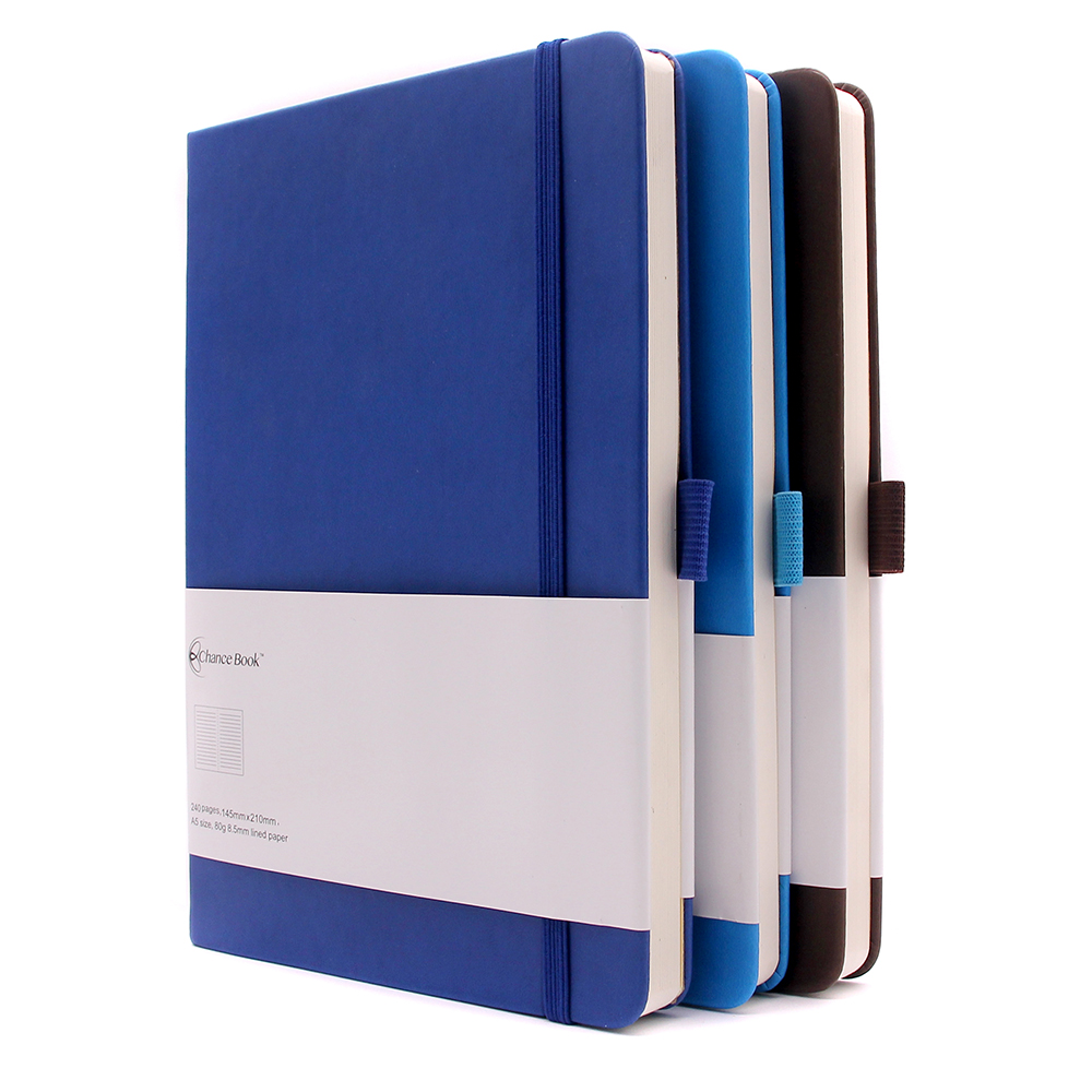 Yiwu labon a5 pu hardcover custom leather notebook with pen holder
