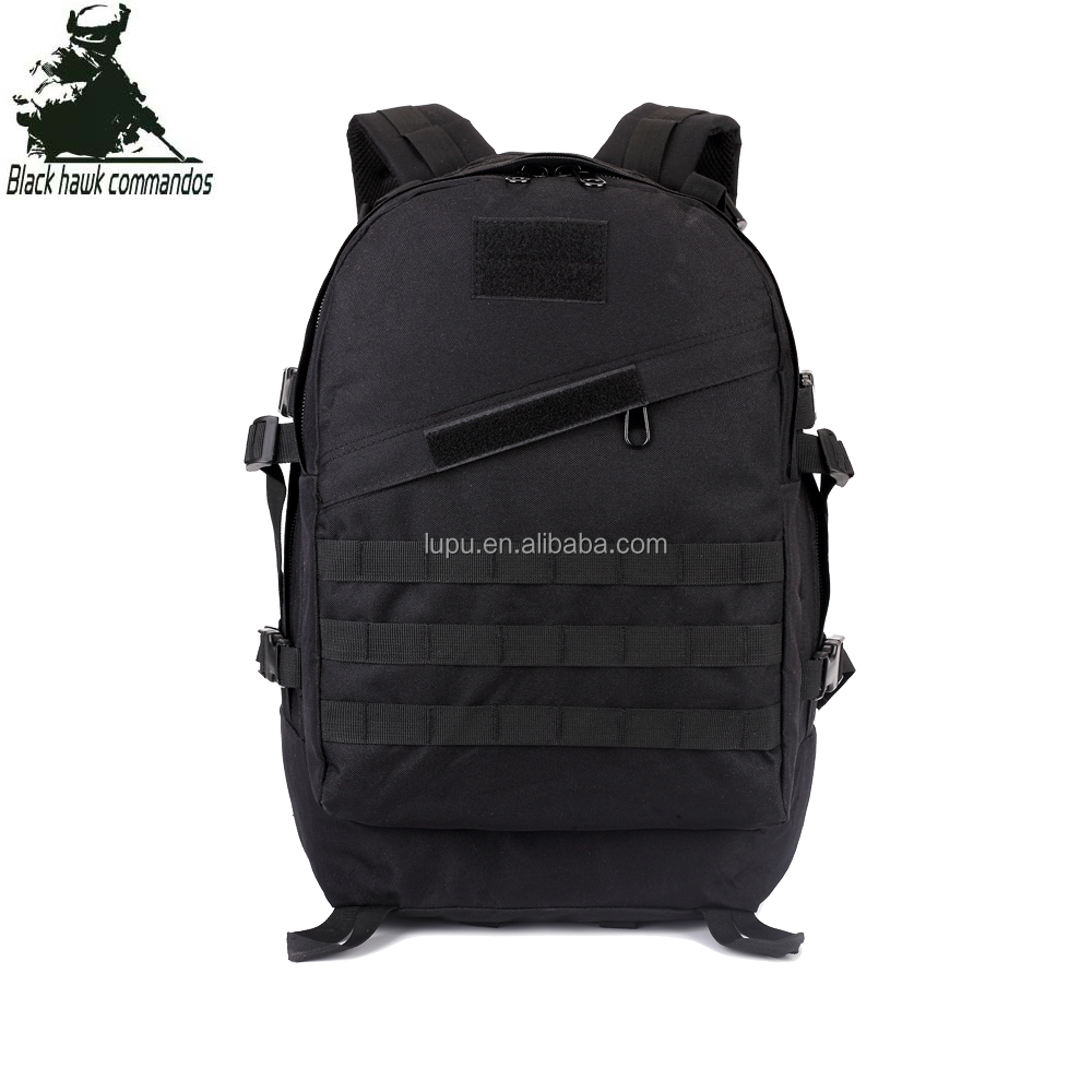 Black 3D Backpack Molle Water-resistant Tactical Backpack Military Large Capacity Backpack