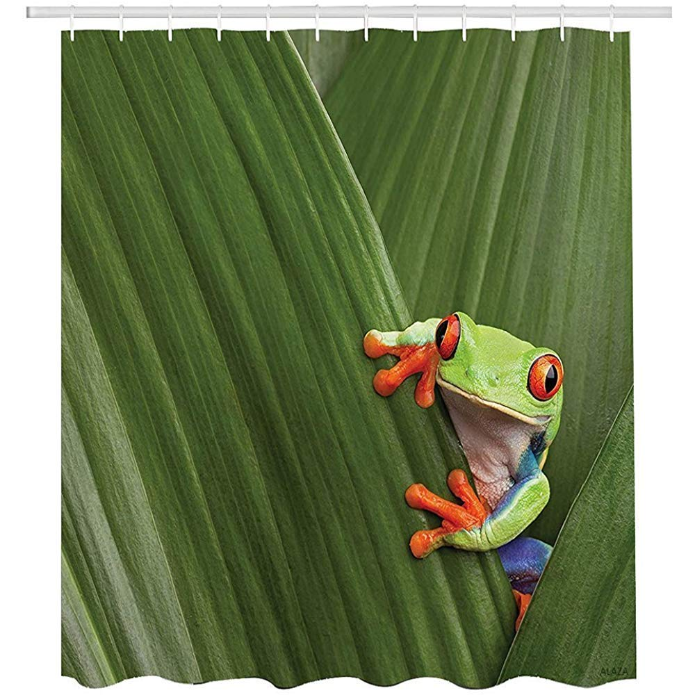 Fabulous Buy Green Frog Hiding On A Banana Leaf Costa Rica Framed Download Free Architecture Designs Rallybritishbridgeorg