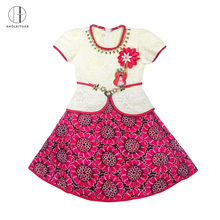 6101-1Rose red Haolaiyuan african lace princess dresses kids