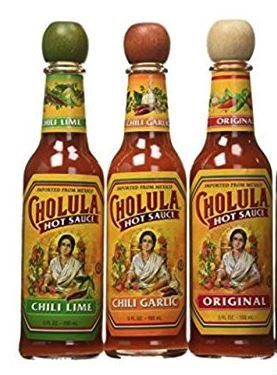 Cholula Original 5 oz, Chili Lime 5 oz & Garlic 5oz Flavors (Variety Pack)