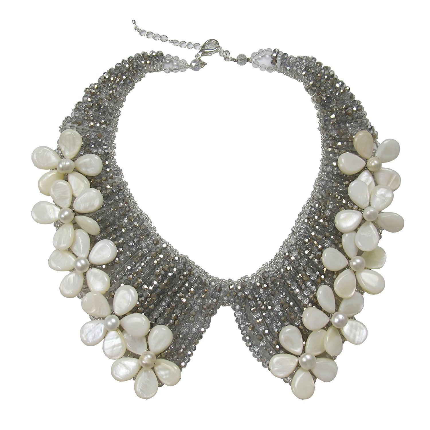 ec411d71f Women Fsmiling Vintage Gold Tone Collar Chain Sparkly Crystal Choker  Necklace for Party Collars