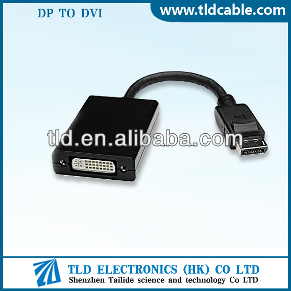 DisplayPort Male to DVI Female Cable Adapter