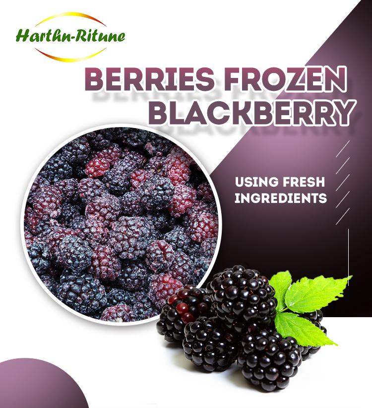 QF frozen nature berries blackberry supplier