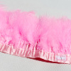 Lace Trimming Marabou Fringe Red Turkey Feather Fabric Trim