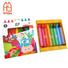 8 color jumbo crayon set for kids, customized Non-Toxic drawing crayons.