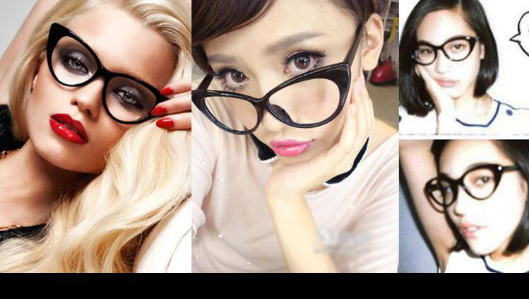 a113cb38dc Hot Fashion Retro Sexy Women Eyeglasses Frame Cat Eye Clear Lens lady Eye  Glasses Drop free Shipping