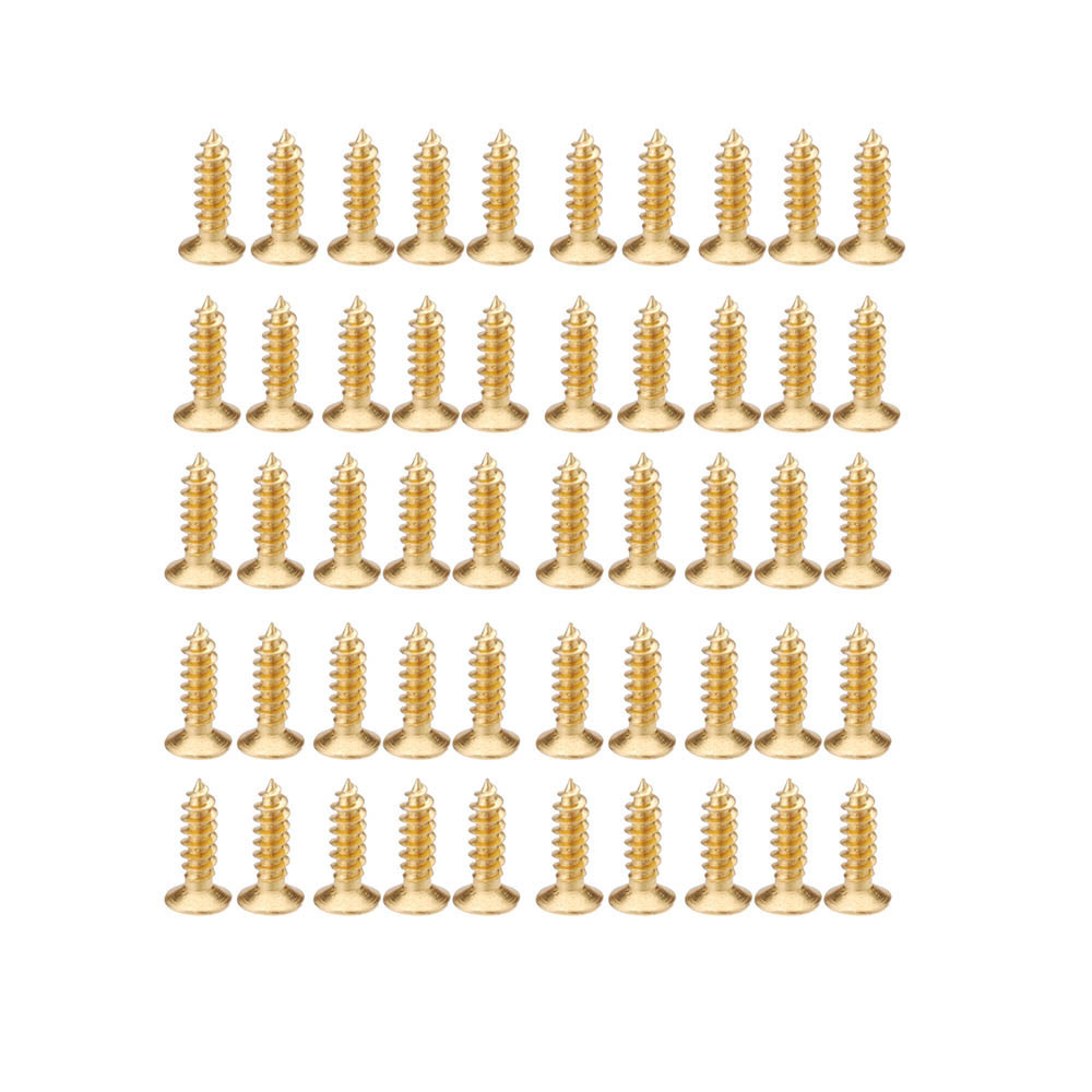 Gold Plating 3mm Screws for Electric Guitar Pickguard Scratch Plate Guitar Parts & Accessories 50pcs/set