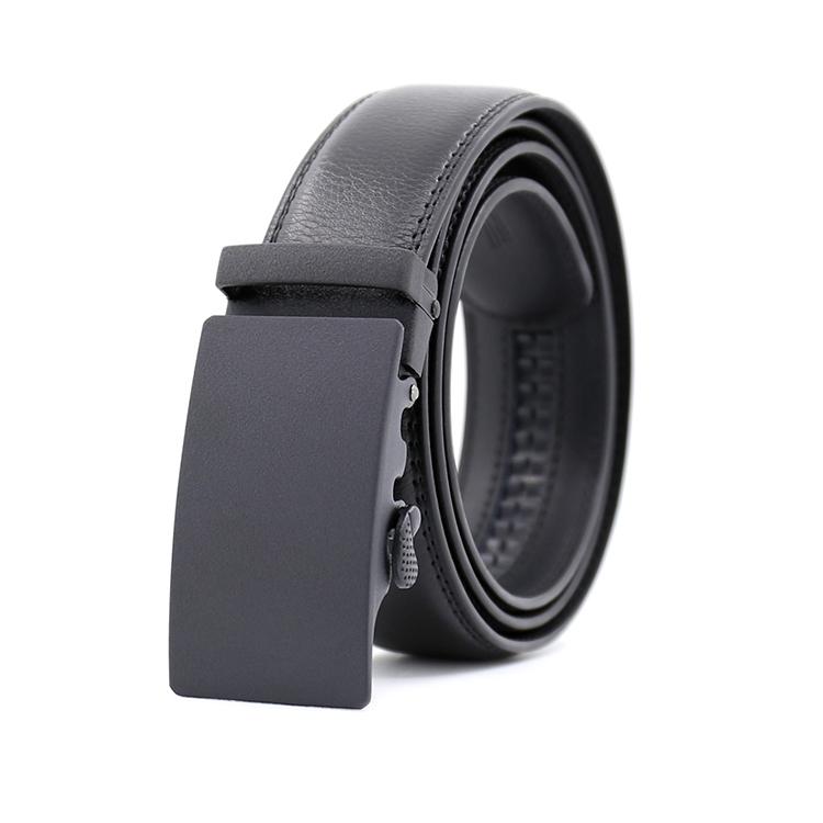 47eaa298b311a Loisirs Mode Haute Qualité Hommes Noir En Cuir Automatique Boucle Ceinture
