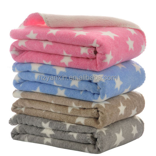 Eco-friendly super soft microfiber coral fleece baby blankets